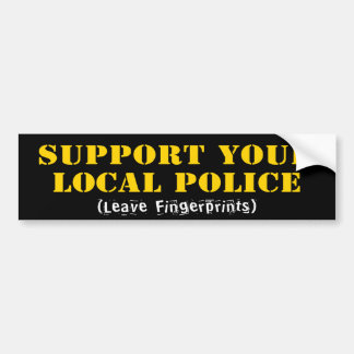 Support Your Local Police Car Bumper Sticker