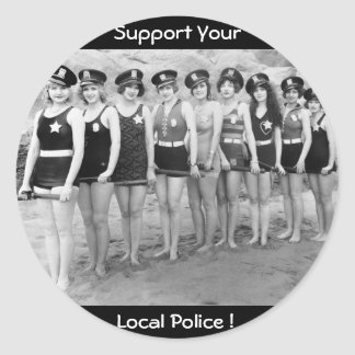 Support Your  Local Police ! Classic Round Sticker