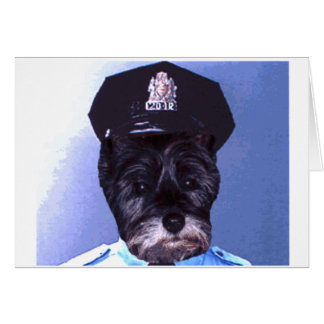 Support Your Local Police ! (Dog) Cairn Terrier Card