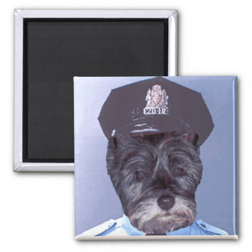 Support Your Local Police ! (Dog) Cairn Terrier Refrigerator Magnets