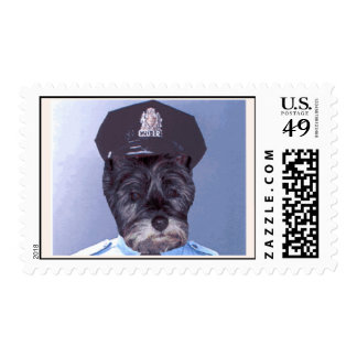 Support Your Local Police ! (Dog) Cairn Terrier Stamp