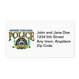 Support Your Local Police Label