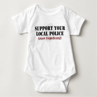 Support Your Local Police - Leave Fingerprints Baby Bodysuit