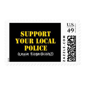 Support Your Local Police - Leave Fingerprints Stamp