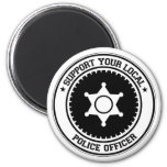 Support Your Local Police Officer Fridge Magnets