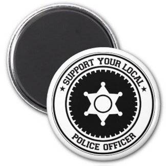 Support Your Local Police Officer Magnet