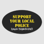 Support Your Local Police Oval Stickers