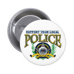 Support Your Local Police Pinback Button