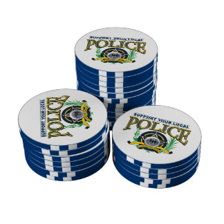 Support Your Local Police Poker Chips Set