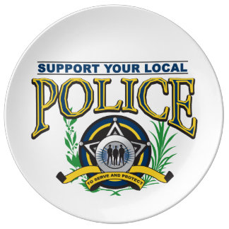 Support Your Local Police Porcelain Plate
