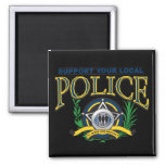 Support Your Local Police Refrigerator Magnet