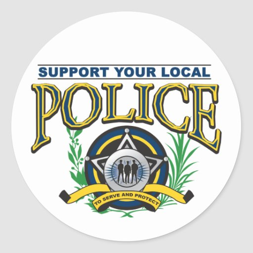 Support Your Local Police Round Sticker