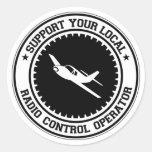 Support Your Local Radio Control Operator Classic Round Sticker