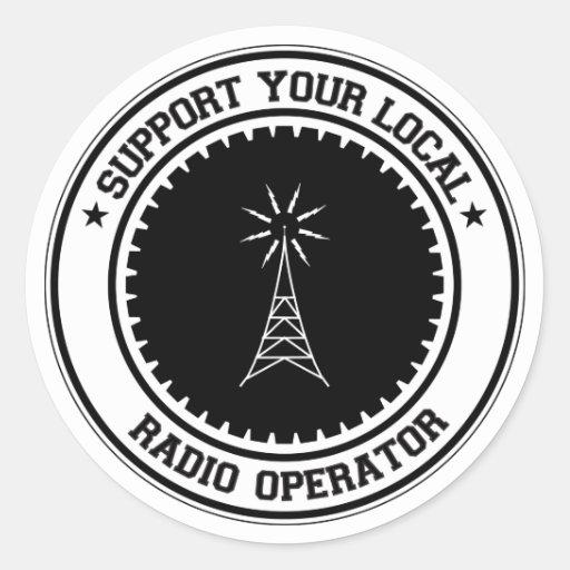 Support Your Local Radio Operator Classic Round Sticker