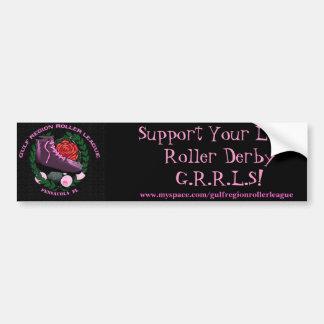 Support Your Local Roller Derby Bumper Sticker