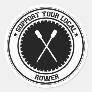 Support Your Local Rower Round Sticker