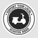 Support Your Local Scooter Rider Classic Round Sticker