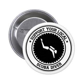 Support Your Local Scuba Diver Pinback Button