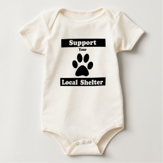 Support Your Local Shelter Baby Bodysuit