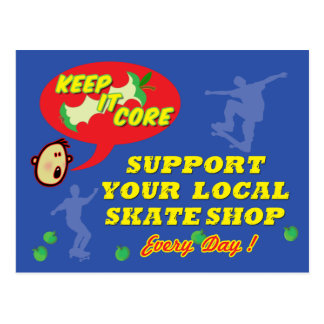 Support Your Local Skateshop  Postcard