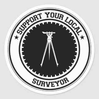 Support Your Local Surveyor Classic Round Sticker