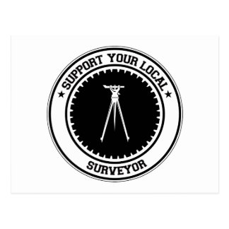 Support Your Local Surveyor Postcard