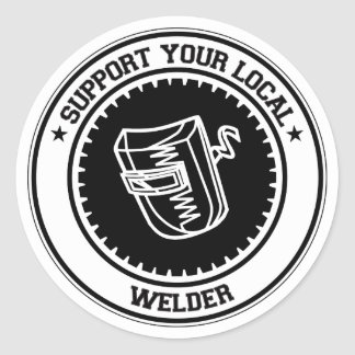 Support Your Local Welder Classic Round Sticker
