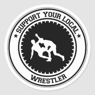 Support Your Local Wrestler Classic Round Sticker