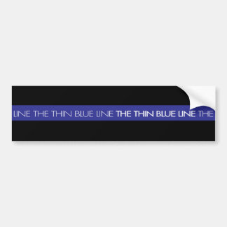 Support your Police Department: The Thin Blue Line Bumper Sticker