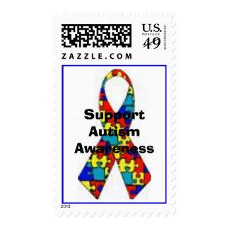 SupportAutismAwareness Postage Stamp