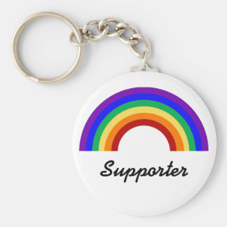 Supporter Gay Supporter Rainbow Keychain