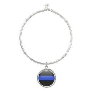 Supporter of the Thin Blue Line Bangle Bracelet