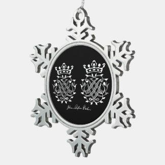 Supporter with Johann Sebastian Bach seal Snowflake Pewter Christmas Ornament