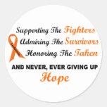 Supporting Admiring Honoring 1 LEUKEMIA Round Sticker