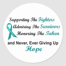 Supporting Admiring Honoring 1 OVARIAN CANCER Classic Round Sticker