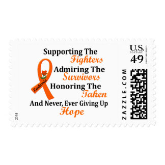 Supporting Admiring Honoring 2 LEUKEMIA Postage Stamps