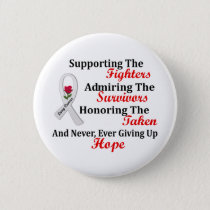 Supporting Admiring Honoring 2 LUNG CANCER Button