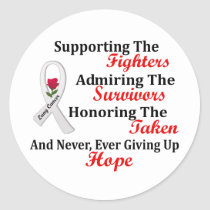 Supporting Admiring Honoring 2 LUNG CANCER Classic Round Sticker