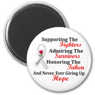 Supporting Admiring Honoring 2 LUNG CANCER Magnets