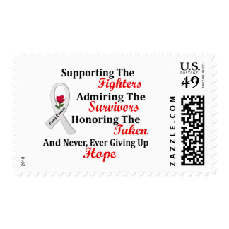 Supporting Admiring Honoring 2 LUNG CANCER Postage Stamps