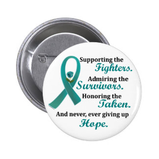 Supporting Admiring Honoring 2 OVARIAN CANCER 2 Inch Round Button