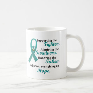 Supporting Admiring Honoring 2 OVARIAN CANCER Coffee Mug