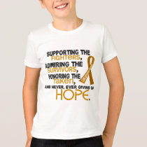 Supporting Admiring Honoring 3.2 Appendix Cancer T-Shirt