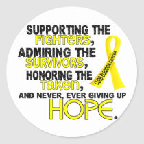 Supporting Admiring Honoring 3.2 Bladder Cancer Classic Round Sticker