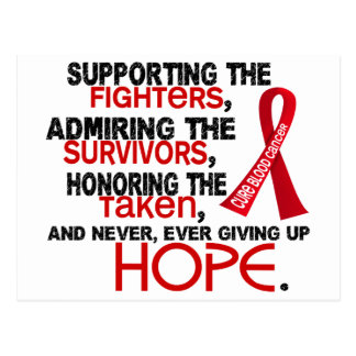 Supporting Admiring Honoring 3.2 Blood Cancer Postcard