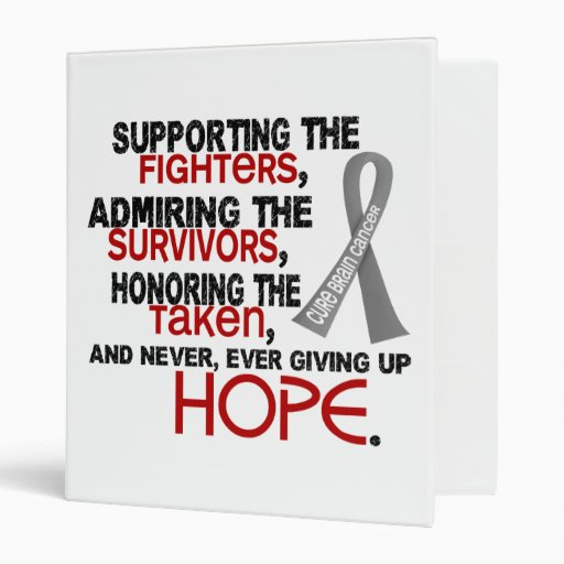 Supporting Admiring Honoring 3.2 Brain Cancer 3 Ring Binders