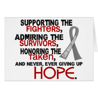 Supporting Admiring Honoring 3 2 Brain Cancer Greeting Cards