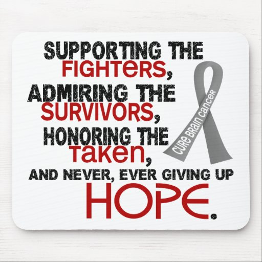 Supporting Admiring Honoring 3.2 Brain Cancer Mousepad
