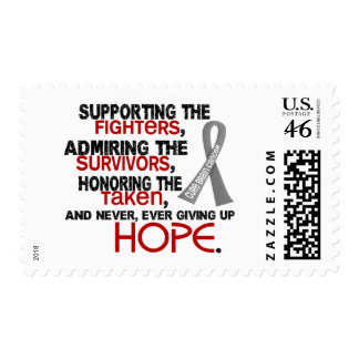 Supporting Admiring Honoring 3 2 Brain Cancer Postage Stamp