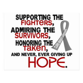 Supporting Admiring Honoring 3 2 Brain Cancer Post Cards